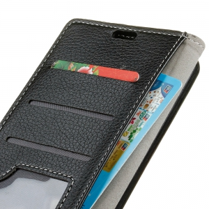 Cover Case For Wiko Sunny Max Litchi Pattern PU Leather Wallet Case -