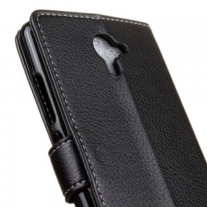 Cover Case For Wiko U Feel Fab Litchi Pattern PU Leather Wallet Case -