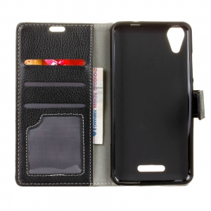 Cover Case For Wiko U Feel Go Litchi Pattern PU Leather Wallet Case -