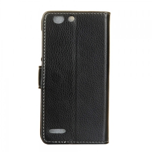Cover Case For Vodafone Smart E8 Litchi Pattern PU Leather Wallet Case -