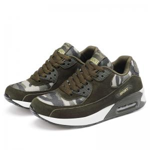 Leather Air Cushion Camouflage Casual Shoes -