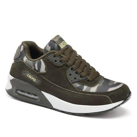 Fancy Leather Air Cushion Camouflage Casual Shoes