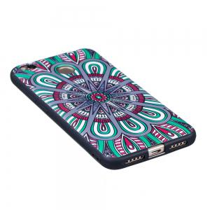 Relief Silicone Case for Xiaomi Redmi 4X Mandala Pattern Soft TPU Protective Back Cover -