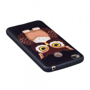 Relief Silicone Case for Xiaomi Redmi 4X Owl Pattern Soft TPU Protective Back Cover -