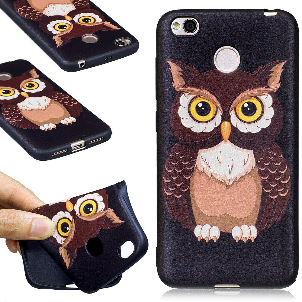 Fashion Relief Silicone Case for Xiaomi Redmi 4X Owl Pattern Soft TPU Protective Back Cover