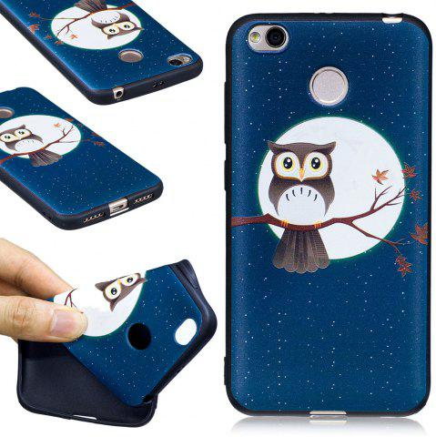 Sale Relief Silicone Case for Xiaomi Redmi 4X Moon and Owl Pattern Soft TPU Protective Back Cover