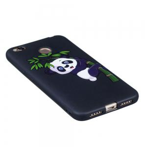 Relief Silicone Case for Xiaomi Redmi 4X Bamboo Panda Pattern Soft TPU Protective Back Cover -