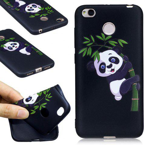 Shops Relief Silicone Case for Xiaomi Redmi 4X Bamboo Panda Pattern Soft TPU Protective Back Cover