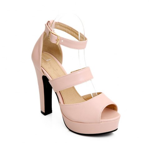 Shop Miss Shoe Bk9-1 High Heel Peep Sandals