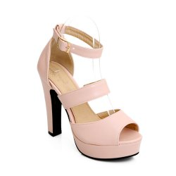 Miss Shoe Bk9-1 High Heel Peep Sandals -