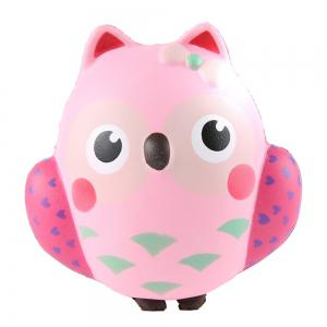 Cute Owl Cream Scented Squishies Slow Rising Decompression Squeeze Toy for Kids Stress Relief Hop Props -