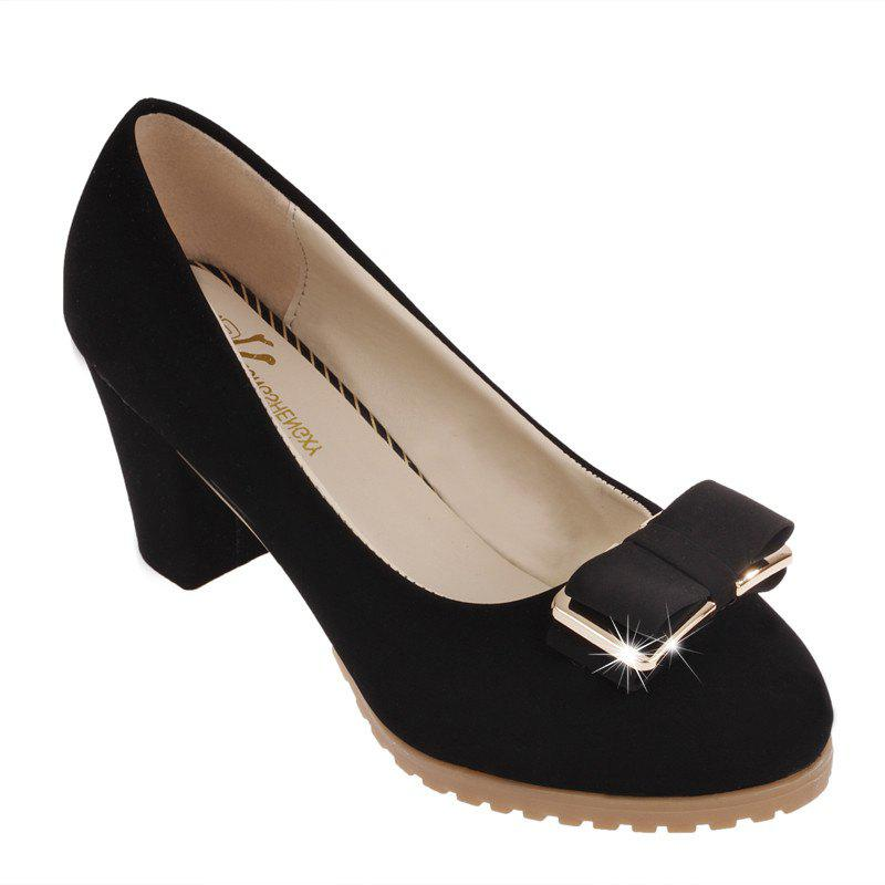 Sale Summer New Female Round Head with Rough Work and Thin Single Shoe