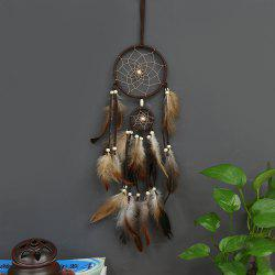 Indian Style Brown Dream Catcher Feathers Core Bead Dreamcatcher for Wall Car Decoration -