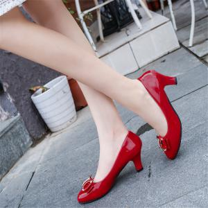 Coarse And Round Head Bows Shoes -