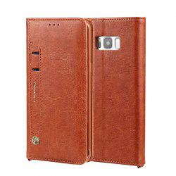 For Samsung S8 Clamshell Rotating Card Purse Holster -