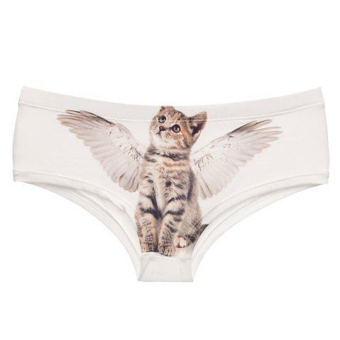 Cheap Fashion  Underwear Angel Cats 3D Printing Women Sexy Panties