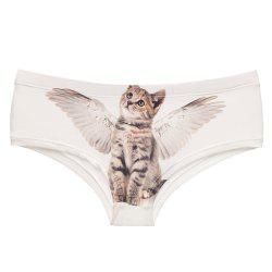 Fashion  Underwear Angel Cats 3D Printing Women Sexy Panties -