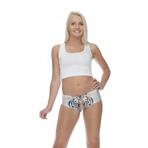 Fashion Underwear Tiger 3D Printing Women Sexy Panties -
