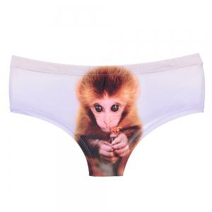 Fashion Underwear Monkey 3D Printing Women Sexy Panties -