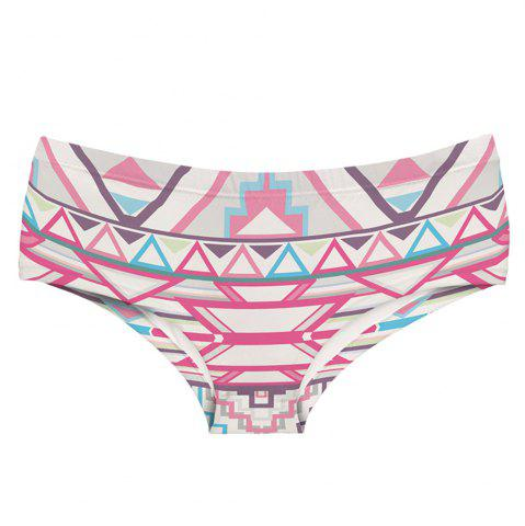 Chic Fashion Underwear Aztec Pink 3D Printing Women Sexy Panties
