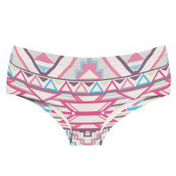 Fashion Underwear Aztec Pink 3D Printing Women Sexy Panties -