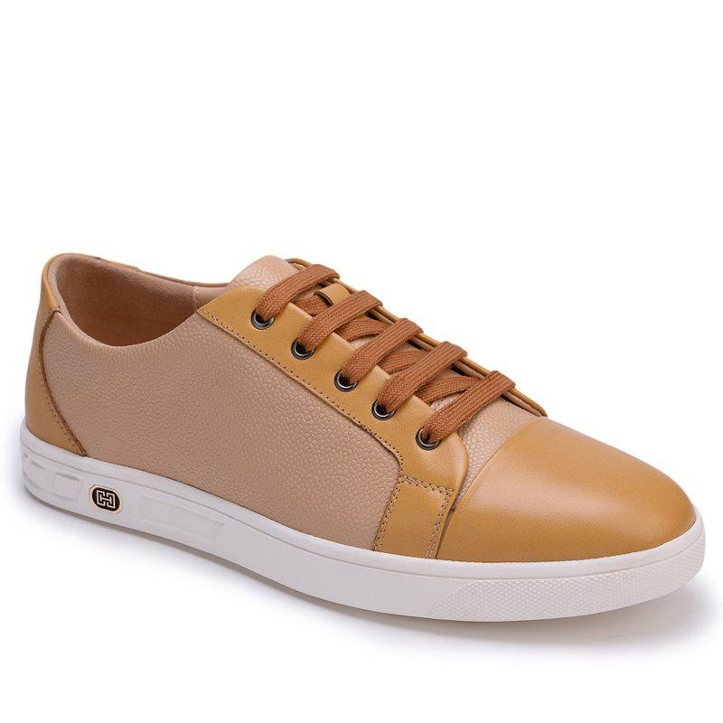 Latest Leather Casual Classic Fashion Male Lace Up Flats