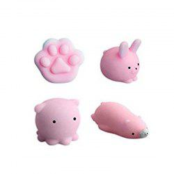 Animals Style Slow Rising Squishy Toy for Kids Adults Pressure Reducing 4PCS -