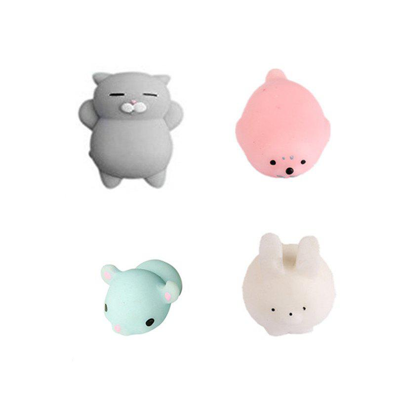 Affordable Animals Style Slow Rising Squishy Toy for Kids Adults Pressure Reducing 4PCS