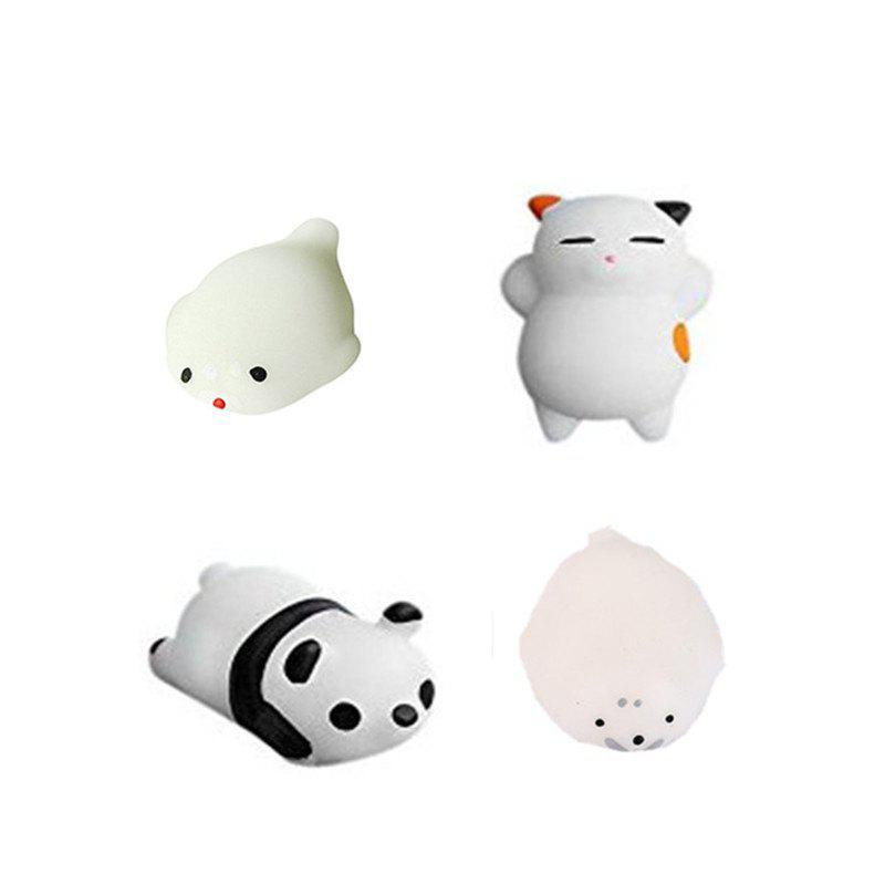 Latest Animals Style Slow Rising Squishy Toy for Kids Adults Pressure Reducing 4PCS
