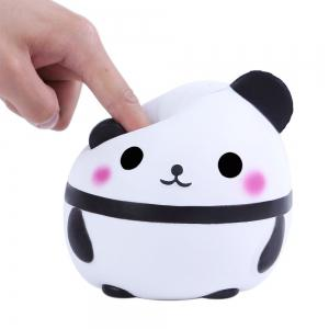 Cute Squishy Slowing Rising Simulation Panda Egg Soft Scented Squeezed Decompression Toys -