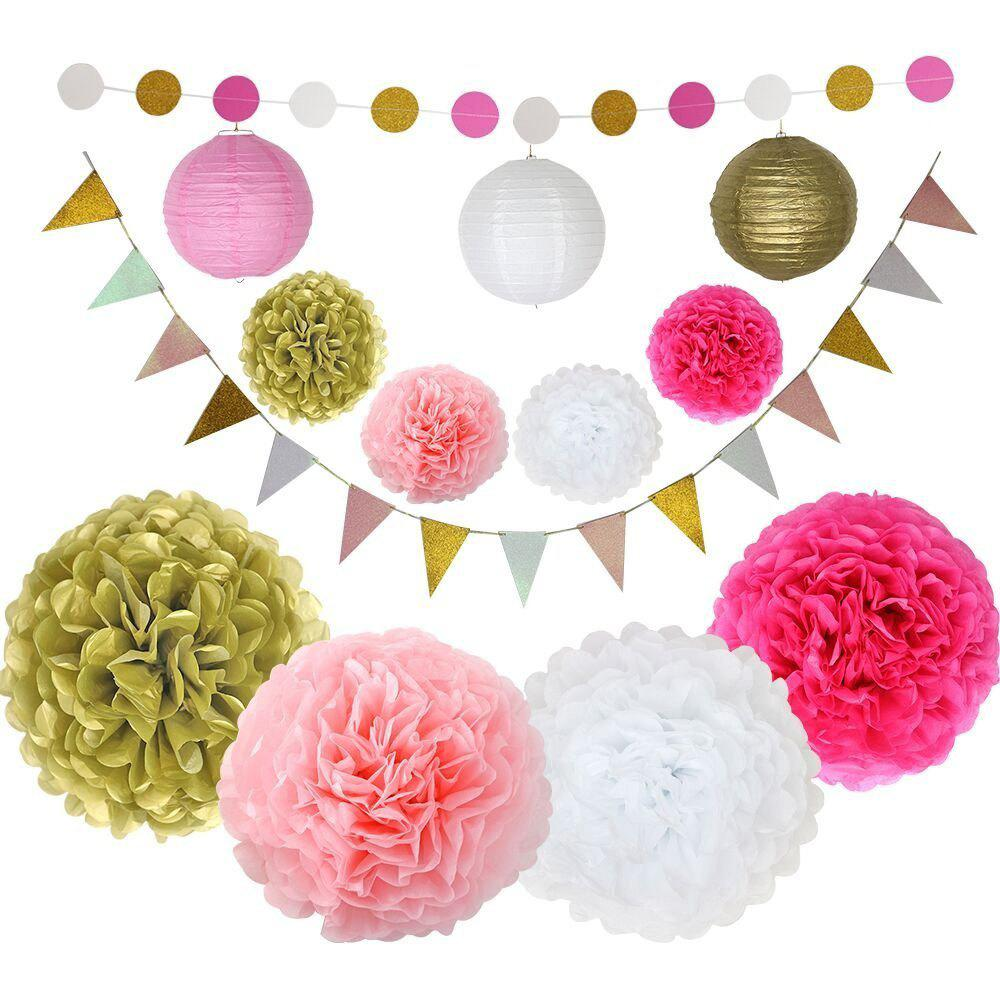 Tissue Paper Flowers For Baby Shower First Birthday Decorations Party Supplies