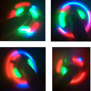 Spinner Finger Toy  with LED Light Stress Reducer Relieve Anxiety -