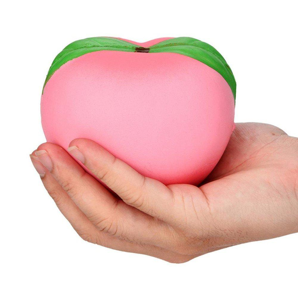 Boss Stress Relief Toys : Pink peach shape pull stretch squishy keep calm squeeze