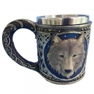 3D Resin Steel Cartoon Animal Drinking Cup -