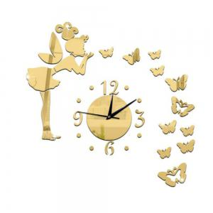 3D Angel Clock Design Frameless Large Wall Clock Diy Home Decoration -