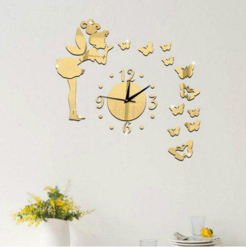 Unique 3D Angel Clock Design Frameless Large Wall Clock Diy Home Decoration
