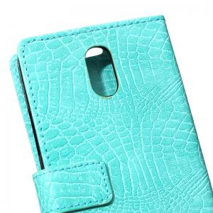 Cover Case for Samsung Galaxy J2 Pro 2018 Retro Crocodile Pattern Leather -