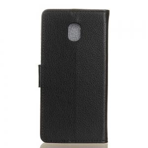 Cover Case for Samsung Galaxy J2 Pro 2018 Pure Color Litchi Leather -