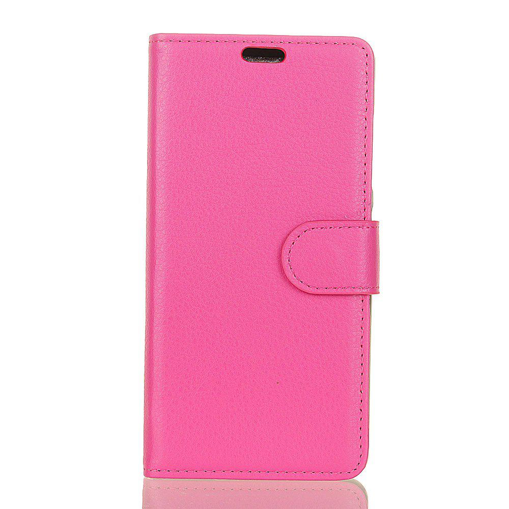 Chic Cover Case for Samsung Galaxy J2 Pro 2018 Pure Color Litchi Leather