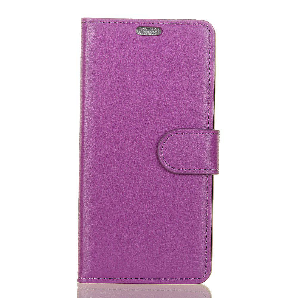 New Cover Case for Samsung Galaxy J2 Pro 2018 Pure Color Litchi Leather