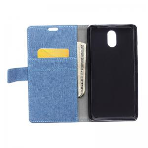 Cover Case for Samsung Galaxy J2 Pro 2018 Solid Color Linen Texture Holster -