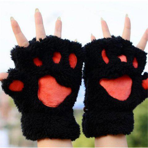 Shops Cat Claw Half-finger Gloves Winter Lovely Gloves for Women and Girls