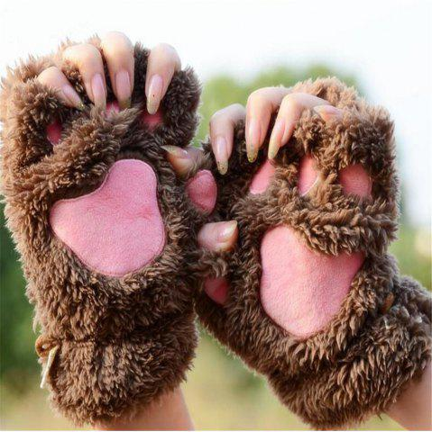 Unique Cat Claw Half-finger Gloves Winter Lovely Gloves for Women and Girls