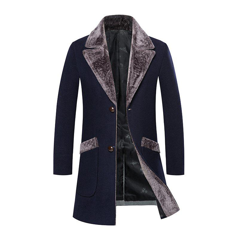 Chic Men's Trench Coat Turn Down Collar Slim Casual Style Fashion Coat