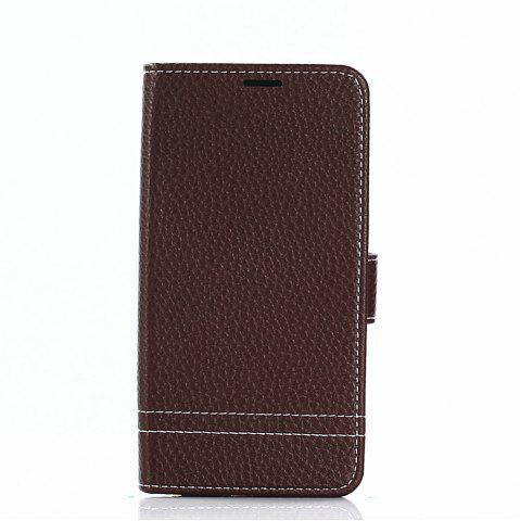 Best Cover Case for Samsung Galaxy J730 Lychee Striped Back Button Leather