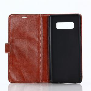 Cover Case for Samsung Galaxy Note 8 Lychee Striped Back Button Leather -