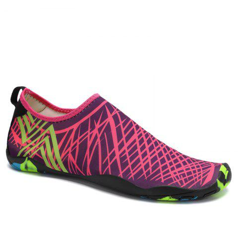 Fancy Classic Grid Striped Swimming Yoga Shoes