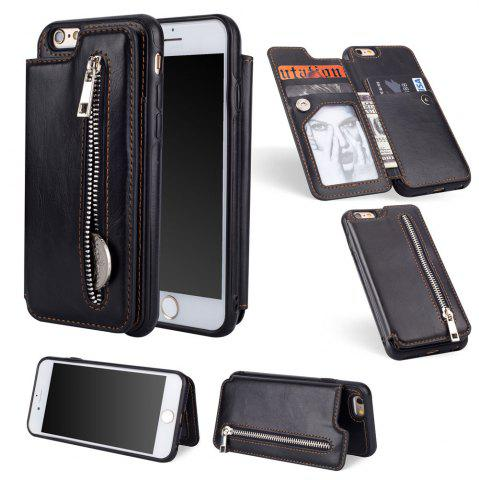 Cheap Leather Business Case for iPhone 6 / 6S Zipper Handbag Wallet Flip Cover
