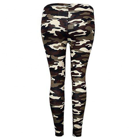 Chic New Type Camouflage and Multicolored Pattern Pants