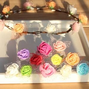 144 PCS Mousse Artificielle Rose Multicolore PE Fleurs Ornements Saint-Valentin cadeau -